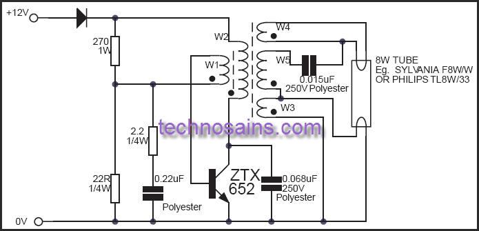 8 watt fluorescent lamp inverter